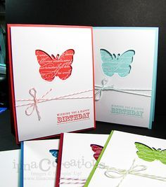 using the negative portion of a die cut or punch, show dsp, easy stamping, one embellishment - twine
