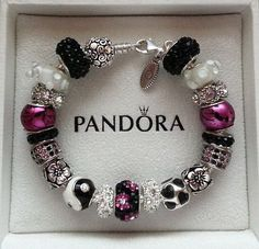 New Authentic Pandora Charm Bracelet Magenta Rose 7.5 or Any Size 925 S ALE BR!