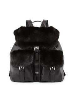 Prada BZ0030 Women Leather Travel Backpacks in Black - pradafire ...