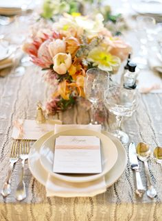 lovely place setting  #wedding #place #settings