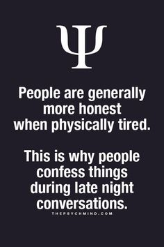 People are generally more honest when physically tired