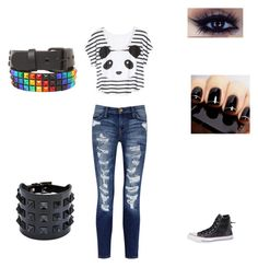"""The mall"" by insanity5678 ❤ liked on Polyvore featuring Panda, Valentino, Current/Elliott, Converse, women's clothing, women, female, woman, misses and juniors"