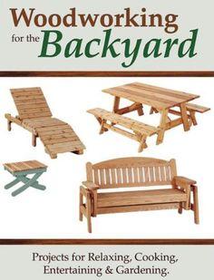 Carpintaria/Marcenaria Para o Quintal Projeto para relaxar, culinária, entretenimento e jardinagem.