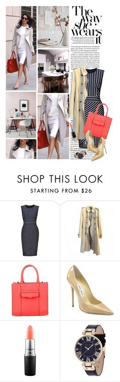 """""""Workaholic"""" by reginakos ❤ liked on Polyvore featuring Roland Mouret, Miusol, Burberry, Rebecca Minkoff, Jimmy Choo, MAC Cosmetics, Anne Klein, BCBGeneration, WorkWear and chic"""