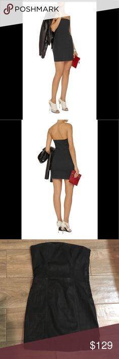Pierre Balmain strapless denim dress black 00/24 Cutfor a close fit. Concealed zip fastening along side. Made in Italy. 98% cotton, 2% elastane. Nwt size 24 ( 00) Pierre Balmain Dresses Mini