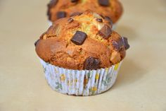 Passion Fruit Curd & Chocolate Muffins