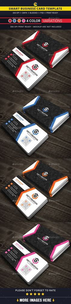 Smart Business Card Template #design Download: http://graphicriver.net/item/smart-business-card-/12481462?ref=ksioks