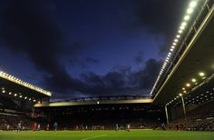 The evening sky over Anfield on matchday as Lunt FC take on Wigan Athletic Wigan Athletic, Evening Sky, Liverpool Fc, England, Europe, World, Places, The World, United Kingdom
