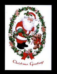 Unused Bill Morehead Santa Christmas Card Ju 96   eBay