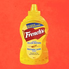 Condiments by Isai Araneta, via Behance Education Clipart, Behance, Baby Shower, Illustrations, Texture, Food, Design, Mustard Yellow, Babyshower