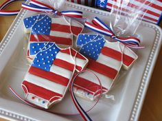 Born on the 4th of July Cookies -- such a cute idea!