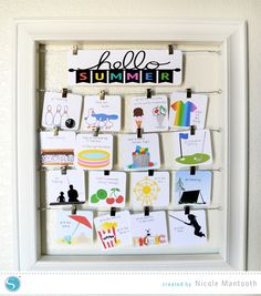 Summer Fun Display | print and cut with the Silhouette Portrait or CAMEO