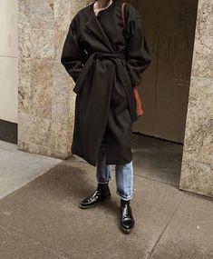 m File | Oversized black coat