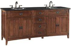 "Artisan Double Bath Vanity, 72""W, LIGHT OAK by Home Decorators Collection, http://www.amazon.com/dp/B006OMZ2K6/ref=cm_sw_r_pi_dp_LedOrb1S22MCF"