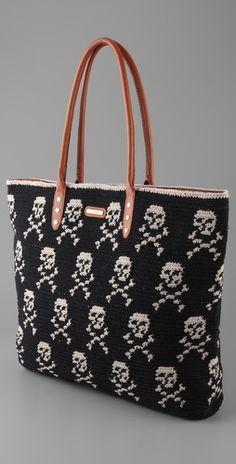 Rebecca Minkoff  Skull Knit Tote  Style #:RMINK40313  $250