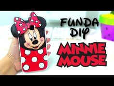 Diy minnie mouse phone case - how to make a foam case - isa Foam Crafts, Diy And Crafts, Make A Phone Case, Cake Order Forms, Mickey Y Minnie, Video Pink, How To Introduce Yourself, How To Make, Cell Phone Covers