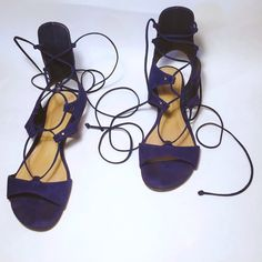 ✨Host Pick✨ Schutz 'Eron' Lace-Up Sandal Gladiator style. Adjustable Laces ** Leather Insole ** Leather Outsole ** Upper: Nubuk Suede ** Size: 9B ** Condition: Very Good SCHUTZ Shoes Flats & Loafers
