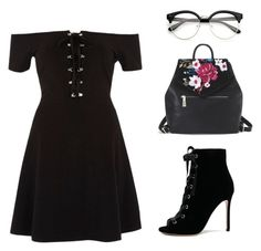 """I'll find u"" by skajackson on Polyvore featuring River Island, Gianvito Rossi and White House Black Market"
