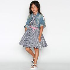 b0c185f5e8 Ermanno Scervino - Girls Blue Cotton Denim Embroidered Jacket