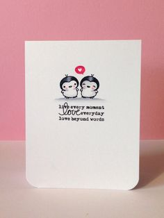 Mama Elephant Everyday Greetings   Love Notes stamp set; colored with Copics