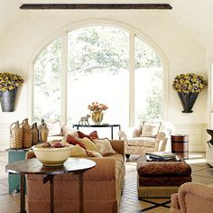 cuddl, dream, arch window, windows, live stuff, live room, french country living rooms