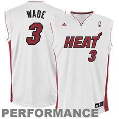 e270fd0cbba3f5 Dwyane Wade Miami Heat adidas Replica Home Jersey - White