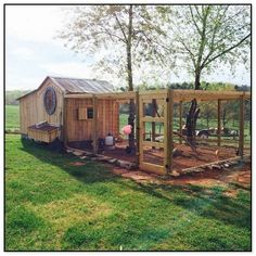Chicken Coop Designs, Cute Chicken Coops, Small Chicken, Backyard Chicken Coop Plans, Building A Chicken Coop, Chickens Backyard, Big Backyard, Backyard Ideas, Shed Conversion Ideas