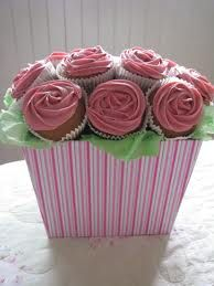 boxed cupcake bouquet