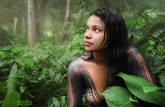 Portrait of a beautiful tribal girl from the Amazon by David Lazar ...