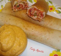 Tasty Appetite: Stuffed Rolling Dosa
