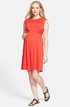 Maternal America 'Empire Cascade' Maternity Dress - this might also be the same dress I pinned...