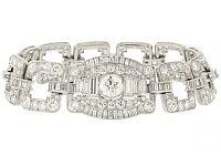 Art Deco Diamond Bracelet in Platinum -Beladora Antique and Estate Jewelry