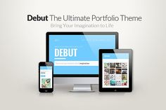 Debut - The Ultimate Portfolio Theme by TymBerry on @creativemarket