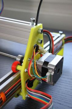 printed Laser Engraver by - Thingiverse Arduino Cnc, Diy Cnc Router, Cnc Woodworking, 3d Printing Business, 3d Printing Diy, 3d Printing Service, 3d Printer Projects, Cnc Projects, Arduino Projects