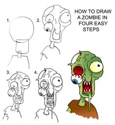 drawing zombies | Daryl Hobson Artwork: How To Draw A Zombie Step By Step