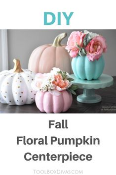 Spruce up your Fall Tablescape with a DIY nontraditional colorful pumpkin vase. This easy to do project makes the perfect fall centerpiece and autumn decor. Pumpkin Vase, Pumpkin Flower, Pumpkin Centerpieces, Diy Pumpkin, Vase Centerpieces, Centerpiece Ideas, Do It Yourself Decorating, Do It Yourself Home, Decorating Ideas