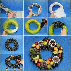 Easier way of making a wreath.
