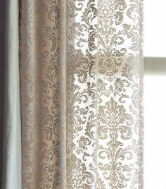 Damask Velvet Burnout Curtain Rod Pocket Curtains Sale $59.99 (Was $120.00) Damask Curtains, Luxury Curtains, Home Curtains, Curtains For Sale, Grommet Curtains, Curtains With Blinds, Sheer Curtains, Kitchen Curtains, Rod Pocket Curtains