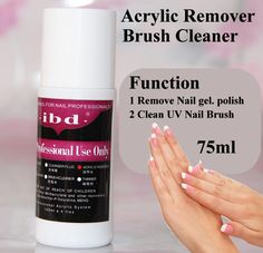 1 pcs Ibd 75ml UV gel polish Acrylic Remover and Brush Cleaner Liquid For Nail Art Powder Nail Tips