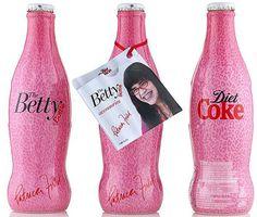 2009 Diet Coke Ugly Bety trio glass shrink UK by roitberg, via Flickr #cocacola #coke #dietcoke #uglybetty