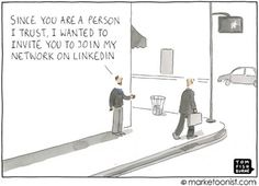 But like yeah seriously, LinkedIn has changed. Get with the game, networking needs to be bolder now, business-networking included. Business Networking, Business Entrepreneur, Inbound Marketing, Internet Marketing, Linkedin Network, Social Media Humor, Business Cartoons, I Am The One, Blog