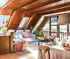9 Sublime Diy Ideas: Attic Remodel Second Story attic house bookshelves. Attic Bedroom Designs, Attic Design, Attic Rooms, Design Interior, Attic Playroom, Attic Bathroom, Remodel Bathroom, A Frame Cabin, A Frame House