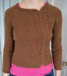 """Gorgeous free """"Twisted Sweater Pattern"""" The Cranky Knitter for Galler Yarns.  Find the free cable sweater knitting pattern here in pdf format: link"""