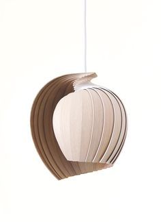 A Flat Packed Lamp Made From 25 Pieces