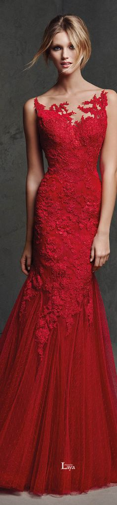 Red perfections. Pronovias 2016 EVENING Dresses