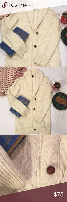 Rugby Shawl Collar Wool/Chashmere Blend Cardigan Super soft Ralph Lauren Rugby Wool/Cashmere Blend Sweater...perfect for the cold winter nights!!! Size M. Ralph Lauren Sweaters Cardigans