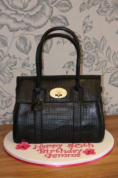 Mulberry Handbag Cake 3 by Kingfisher Cakes, via Flickr