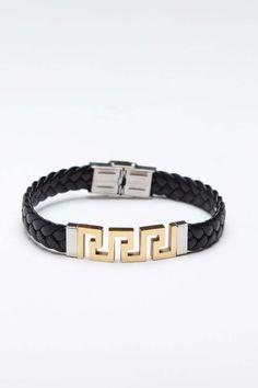 Steeltime Braided Leather Brass Bracelet :)