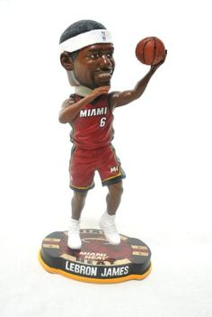 9580cd5405c6 Lebron James 2012 Official NBA  6 road (red)Jersey action Retro Base Bobble  Head Miami Heat