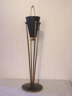 VINTAGE 1950S STIFFEL LAMP GERALD THURSTON MID CENTURY MODERN LIGHT